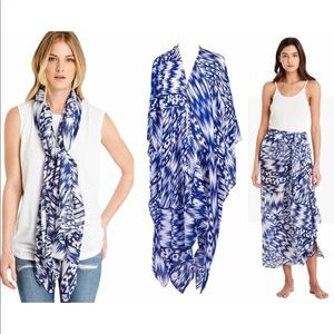 NWT Michael Stars batik Ruana scarf sarong coverup